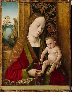 Follower of Dieric Bouts (German, Middle or Upper Rhenish, ca.1500), Virgin and Child; Oil on wood, 39.7x30.8 cm