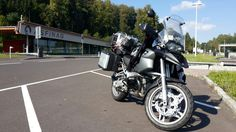 My BMW R 1200 GS near Linz (Austria)