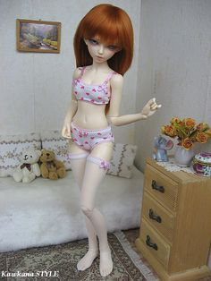 Up for auction is outfit for MSD. It was made by me in a smoke free and pet free home. I create special outfits with lots of handwork and attention to detail.  Please choes correct size when order.  This auction includes:  1. Elastic bra closed on the back on snaps - SPORT TOP DESIGN like on the photos with doll 2. Elastic panties 3. Stockings  Many colors available!  For more photos of each color please check my flickr: http://www.flickr.com/photos/kawkana/  Please n...