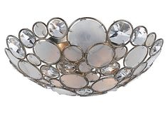Laurel 3-Light Flush Mount, Silver on OneKingsLane.com 600. on sale 359.