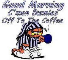 C'mon bunnies. Off to the coffee.