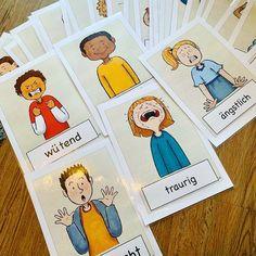 Feeling Pictures, Montessori, Kindergarten Portfolio, Feeling 22, Pediatric Ot, Learn German, Picture Cards, Aspergers, Pre School