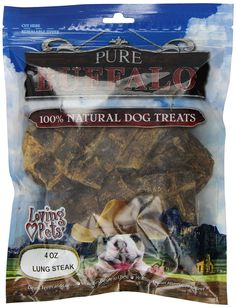 Loving Pets Pure Buffalo Lung Steaks Dog Treat, 4 -Ounce *** For more information, visit image link. (This is an affiliate link and I receive a commission for the sales)