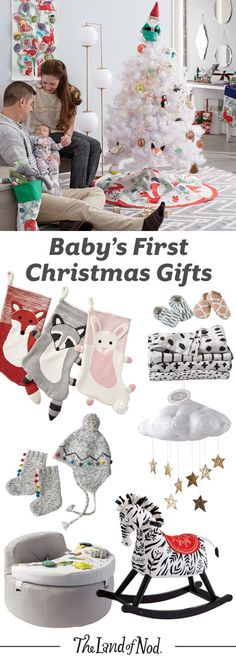 Create a memorable first Christmas for baby with The Land of Nod's lineup of gifts and toys. Baby may not be old enough to write a wish list just yet, but there are tons of presents that'll create smiles all around. From rocking horses and play mats to toys and ornaments, our presents are safe and fun. - wholesale plus size womens clothing, discount womens clothing, womens fasion clothing