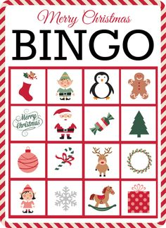 Christmas Bingo Free Bingo Cards Printable - Fun Graphics - Ideas of Fun Graphics - Free Christmas Bingo Printable cards- 10 in the set. Each feature easily recognizable holiday graphics- perfect for younger kids or older. Christmas Bingo Printable, Christmas Bingo Cards, Free Printable Cards, Noel Christmas, Christmas Crafts For Kids, Christmas Decorations, Preschool Christmas Games, Christmas Party Family, Christmas Eve Box Ideas Kids