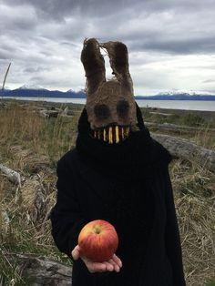 Owl Mask, Bunny Mask, Bazar Bizarre, Creepy Masks, Creepy Halloween Costumes, Costumes Kids, Girl Costumes, Scarecrow Mask, Mascaras Halloween