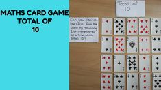 Set out 20 cards face up on the table (with picture cards removed). The first player takes 2 or more cards off the table which have a total of The aim of. Fluency Games, Math Fact Fluency, Dice Games, Math Addition, Addition And Subtraction, Math 4 Kids, Year 1 Maths, Math Card Games, Number Bonds
