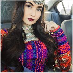 Beautiful Afghan dress & Afghan Jewelry.  http://www.zarinas.com. Photo credit:  @_saraaxo.