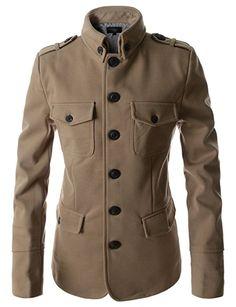 Showblanc(SBDJK7) Man's Multi Pocket Slim FIt 4 button Half Coat Style Jacket BEIGE Large(US Medium) Mens Casual Suits, Mens Suits, Mens Fashion Blazer, Suit Fashion, Designer Jackets For Men, Formal Shirts For Men, African Men Fashion, Fit 4, Mens Clothing Styles