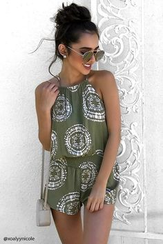 Cute halter playsuit - yes please! | The Must Have Stylish Summer Outfits