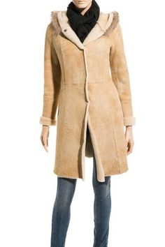 Shearling-lined brown suede jacket   - Coats -   Pinterest   Suede ...