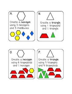 Creating Shapes: First Grade Math  Reason with shapes and attributes