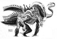 xenomorph   Rex Xenomorph by ~redguard on deviantARTReproduced from a Batman vs ...