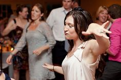 Modern Take on Dancing Pictures at Wedding Reception