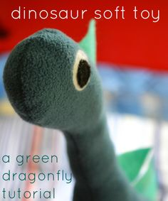 dinosaur stuffed animal DIY tutorial success! has pattern