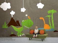 Dinosaur themed bedroom ideas | Lucky Boy