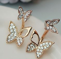 Delicate Rose Gold Plated Front and Back Earrings, Micro Pave AAA Zircon Butterflies, Rose Gold