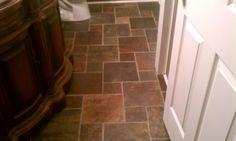 our slate bathroom floor