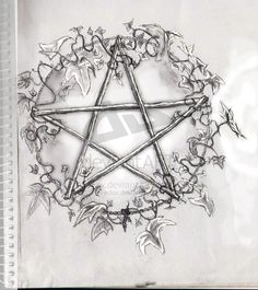 Pentacle with Ivy by edax on DeviantArt