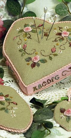 The Victoria Sampler's Valentine Pincushion