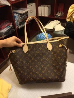 Real Louis Vuitton Neverfull MM Bag M40995 Real Louis Vuitton dbf5e36828c