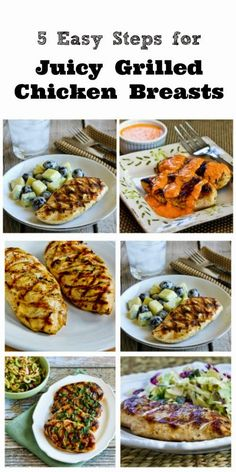 It's definitely grilling weather so I've updated this popular post on How to Make Juicy Grilled Chicken Breasts That Are Perfect Every Time; hope you enjoy! Grilling Recipes, Cooking Recipes, Healthy Recipes, Healthy Grilled Chicken Recipes, Vegetarian Grilling, Grilling Tips, Healthy Grilling, Barbecue Recipes, Barbecue Sauce