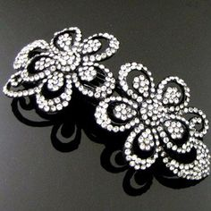 Wedding Bridal Prom Black Metal Crystal Rhinestones Hair Barrette Clip 04 -- For more information, visit image link. (This is an affiliate link and I receive a commission for the sales)