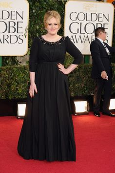 Wholesale Jewelry Adele wore a Burberry dress and Cartier jewelry at the 2013 Golden Globes. - See what Hollywood's hottest celebrities wore to the Annual Golden Globe Awards in Beverly Hills on January 2013 Golden Globes 2013, Golden Globe Award, Vestidos Adele, Look Star, Burberry Dress, Looks Plus Size, Boho Stil, Nice Dresses, Formal Dresses