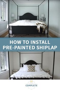 Video Tutorial: How to install Metrie Complete pre-painted shiplap with Roxanne West, of Bonjour Bliss Blog. Roxanne used Metrie Complete pre-painted shiplap to create a beautiful feature wall. Shiplap tutorials | how to install shiplap | shiplap instructions | how to install shiplap | shiplap inspiration | diy shiplap | #moulding #shiplap #interiorstyling #interiordesign #interiorfinishing