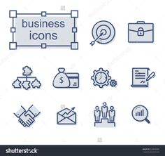 Thin line icons set, Linear symbols set, Business Photo by thesomeday123 on Shutterstock