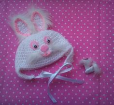 OOAK Bunny Hat and Mittens for Blythe by RainbowDaisies on Etsy
