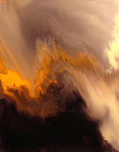 "Saatchi Online Artist: Maurice Sapiro; Oil, 2011, Painting ""Volcano"""