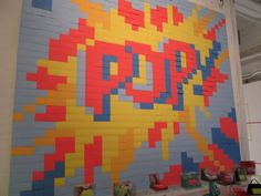 Pop Art made of Post-its! totally cool