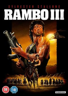 With Sylvester Stallone, Richard Crenna, Marc de Jonge, Kurtwood Smith. Rambo mounts a one-man mission to rescue his friend Colonel Trautman from the clutches of the formidable invading Soviet forces in Afghanistan. 80s Movie Posters, Movie Titles, Film Movie, Sci Fi Movies, Top Movies, Action Movies, Sylvester Stallone Rambo, Rambo 3, Stallone Movies