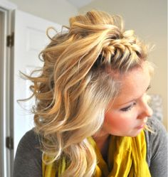 Tucked Away French Braid + Grey/Yellow