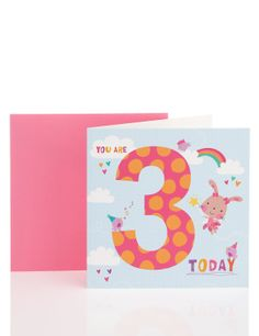 Spotty Age 3 Birthday Card | M&S