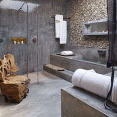 Revestimientos on pinterest cement wood walls and for Hormigon pulido interior