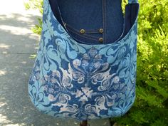 Dolce Pacific Crossbody Hobo; Boho Bag *Includes Adjustable Strap! *Add Magnetic Closure* Sling Bag Slouchy Handbag; Diaper Bag by ChristyRaynDesigns on Etsy