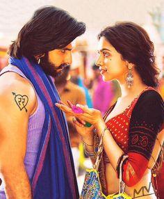 Ranveer Singh and Deepika Padukone in Ram-Leela Bollywood Couples, Bollywood Wedding, Bollywood Stars, Bollywood Fashion, Movies Bollywood, Bollywood Quotes, Deepika Padukone, Deepika Ranveer, Ranveer Singh
