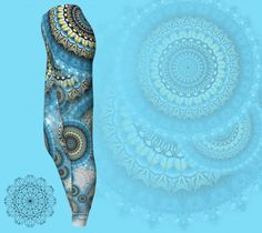 Blue Gold Mandala Leggings by StudioPhiDesign on Etsy Blue Gold, My Outfit, Leggings, Trending Outfits, Unique Jewelry, Handmade Gifts, Clothing, Etsy, Vintage