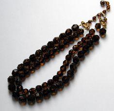 Vintage Topaz Crystal Necklace Signed JONNE