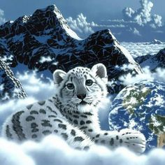 This Tiger wallpaper shown with the world is done in great detail. This mixture of fantasy and reality made this picture come to life. Tiger Wallpaper, Background Hd Wallpaper, Animal Wallpaper, Leopard Wallpaper, Computer Wallpaper, Iphone Wallpaper, Pet Tiger, Tiger Art, Snow Tiger