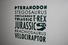 Subway Style Dinosaur Vinyl Wall Decal with Jurassic Lettering for Bedroom, Boy Room, Playroom, etc. - Choose your Font and Color on Etsy, $15.11 AUD