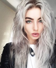 Gray Hair With Green Eyes