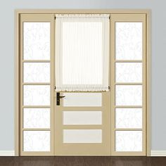 "United Curtain Company Monte Carlo 59"" x 40"" voile door panel"