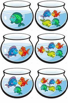 Hoeveel visjes in de vissenkom? Goed te combineren met cijfers