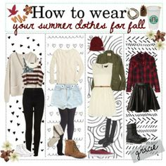 HTW: Summer clothes for fall