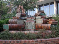 Book Fountain, Public Library of Cincinnati, Ohio