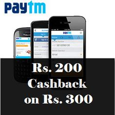 Paytm Shopping Rs.200 Cashback on Rs.300 (New App Users)#GoBlueWithPaytm