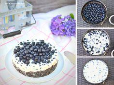 No-Bake Blaubeer Joghurt Törtchen -No-Bake Blueberry Yogurt Cake